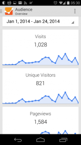 Over 800 unique visitors