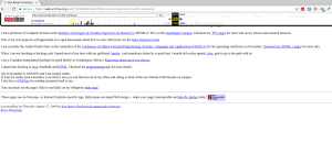 WayBackMachine view of Ken Bauer´s old homepage in August 1999