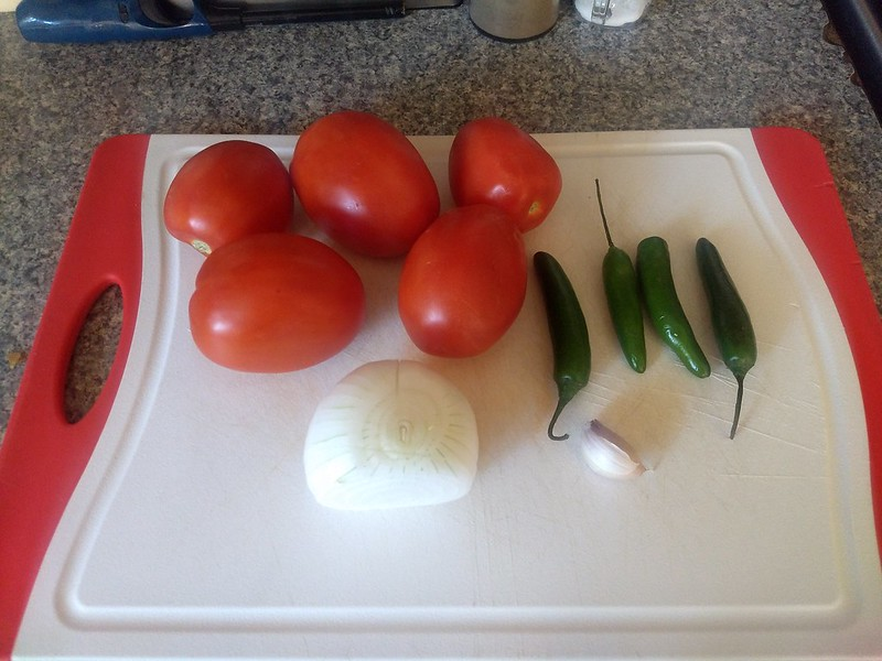 Salsa prep ingredients