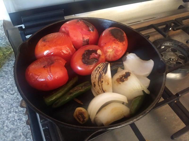 Ingredients charred