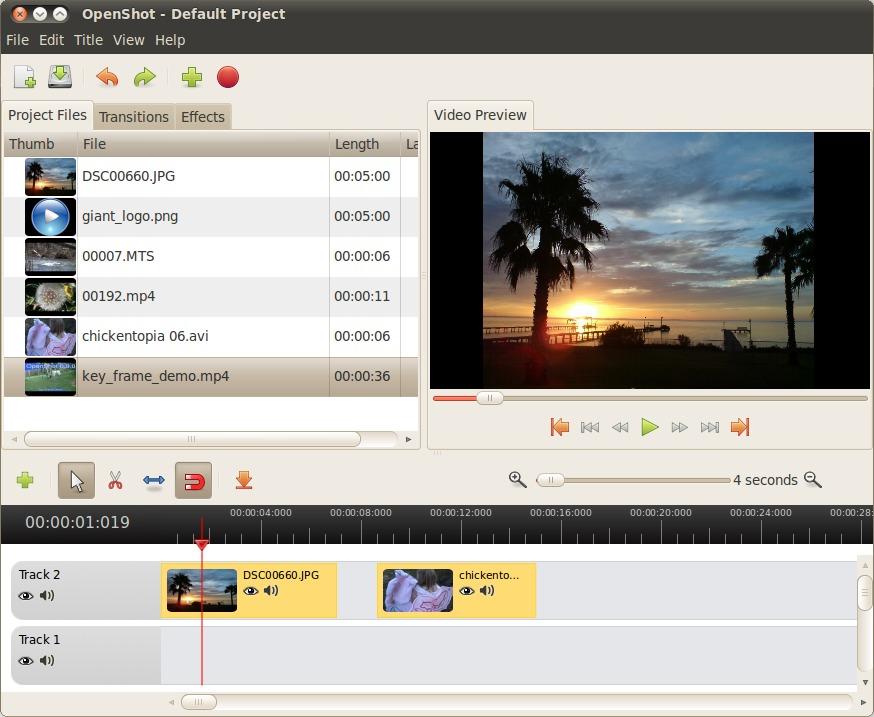 Screenshot of OpenShot Video Editor
