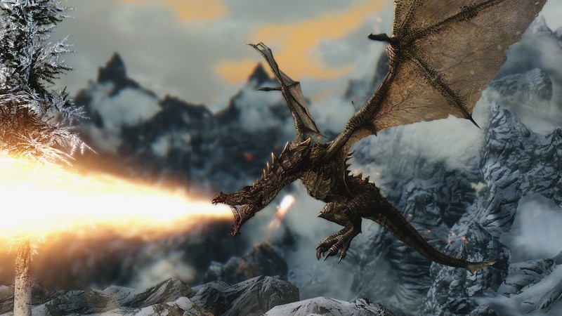 Screenshot from the video game Skyrim.