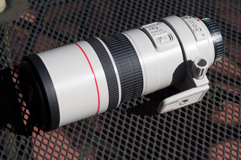 Picture of a Canon 300mm f/4 L, a prime lens.