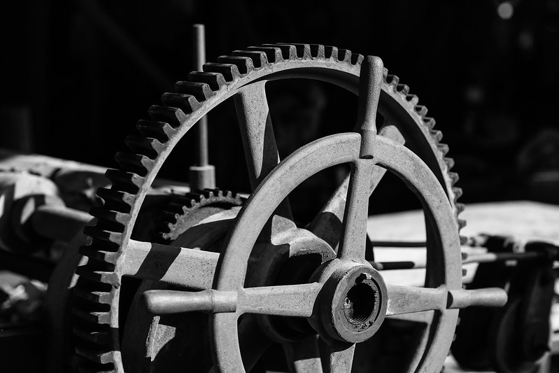 Gears for large machinery.