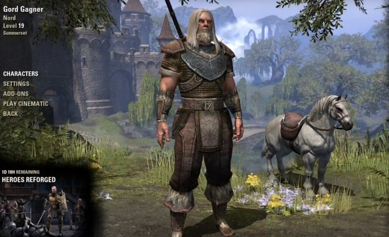 Gord the Nord. My Dragonknight tank in Elder Scrolls Online.