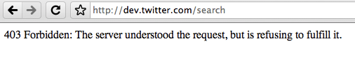 """Message from visiting a web page """"403 Forbidden: The server understood the request, but is refusing to fulfill it."""""""