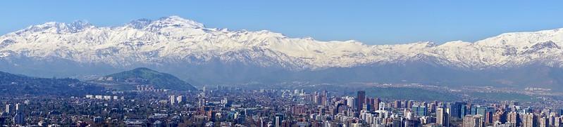 Santiago de Chile desde el Parque Metropolitano. Agosto de 2014