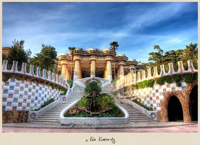 Park Guell Entrance, Barcelona, Spain, Gaudi, Travel
