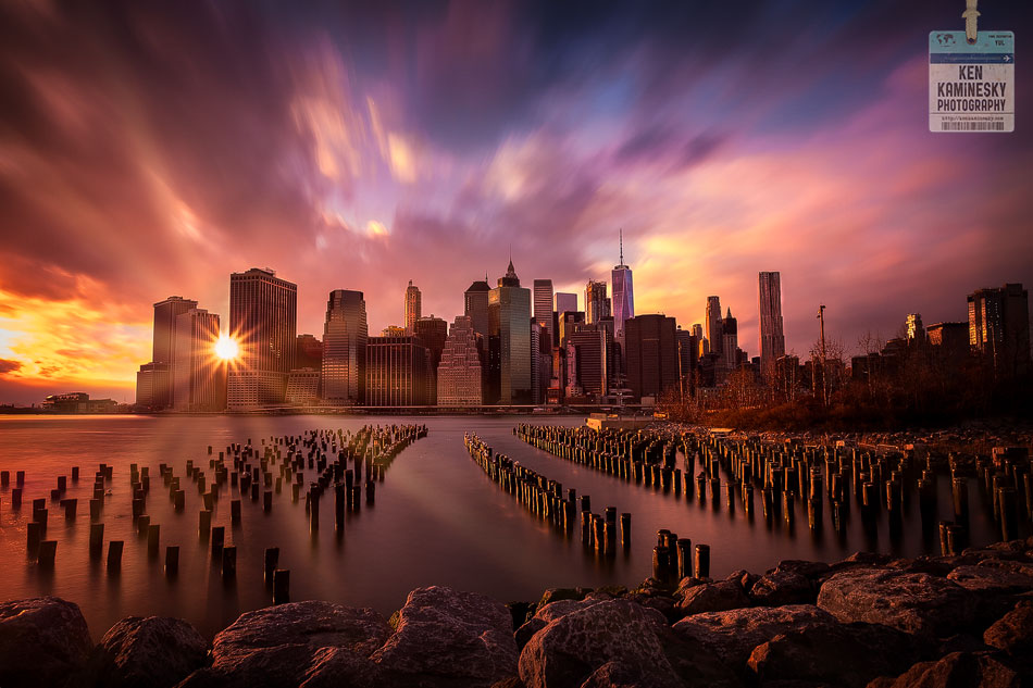 NYC-Sunset-Manhattan-Pylons