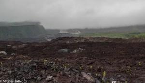 La coulée de 2007 au pied du rempart du Tremblet