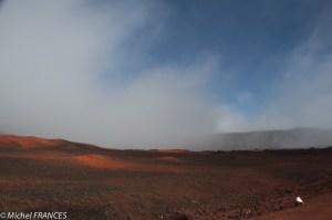 La seule éclaircie de notre visite au volcan : en repartant !