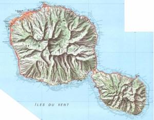 Carte de Tahiti diffusée par l'IGN
