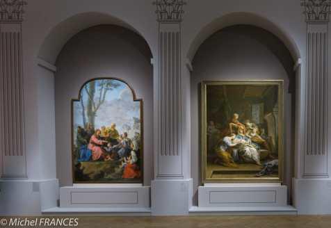À gauche : Noël Hallé - Le Christ et les enfants - 1775
