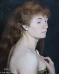 Charles Maurin - Portrait de jeune femme rousse - 1889