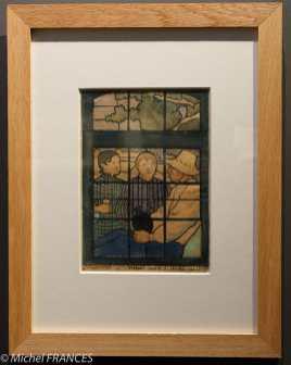 Émile BERNARD -La conversation (esquisse de vitrail, saint-Briac) - 1887