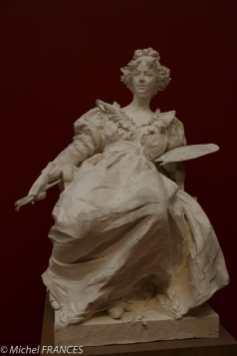Musée des beaux arts d'Angers - Georges-Ernest Saulo - Élisabeth Vigée-Lebrun - 1897 - moulage plâtre