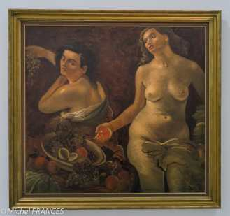 Musée d'art moderne de paris - Expo Derain, Balthus, Giacometti - André Derain - Deux femmes nues et nature morte