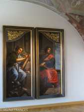 Palais Sternberg - Galerie nationale Michiel Coxcie - Panneaux de la peinture de Gossaert - St Luc et st Jean