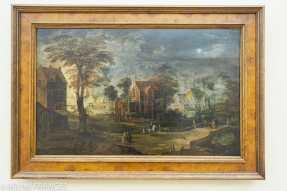 Palais Sternberg - Galerie nationale - Loos II de Momper et Jan I Brueghel - Village à la pleine lune