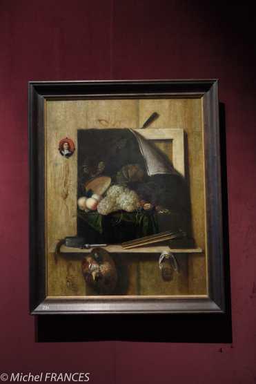 Palais Sternberg - Galerie nationale - Cornelius Norbert Gysbrechts - nature morte avec éléments de peinture - 1663