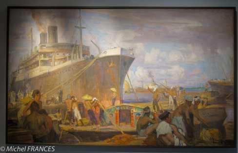 Musée du quai Branly - Peintures des lointains - Charles Fouqueray - Le port de Saïgon
