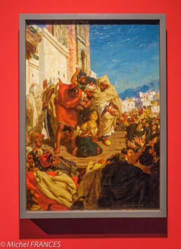 Musée du quai Branly - Peintures des lointains - Afred Dehodencq - L'exécution de la Juive - vers 1860