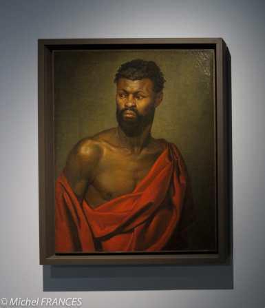 Musée du quai Branly - Peintures des lointains - Anonyme - Portrait d'un homme noir - vers 1850