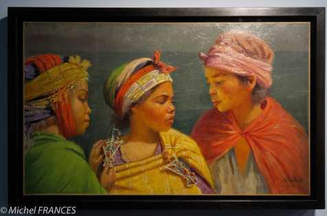 Musée du quai Branly - Peintures des lointains - Marc Alfred Chataud - Filles kabyles