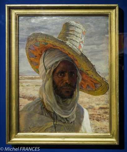 Musée du quai Branly - Peintures des lointains - Étienne Dinet - Homme au grand chapeau - 1901