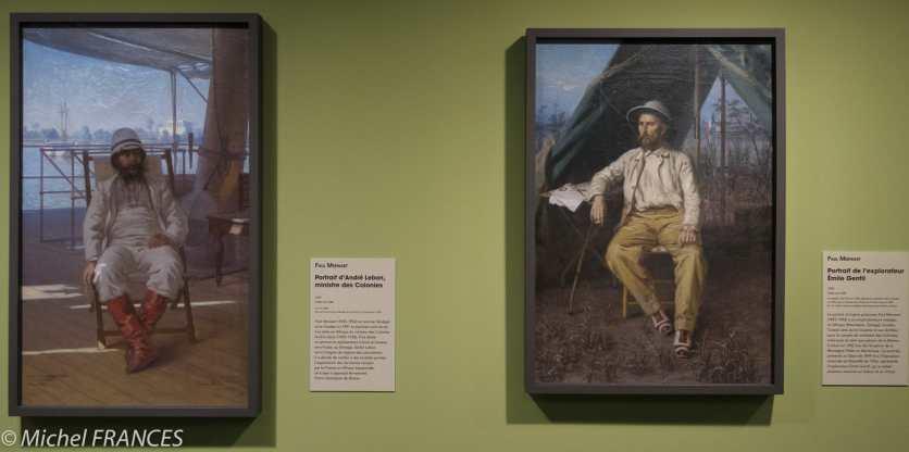 Musée du quai Branly - Peintures des lointains - Paul Merwart - Portrait d'André Lebon, ministre des Colonies - Portrait de l'explorateur Émile Gentil