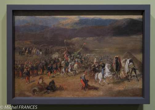 Musée du quai Branly - Peintures des lointains - attribué à Horace Vernet - Prise de la smala d'Abd el-Kader par le duc d'Aumale - vers 1843