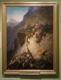 Musée du quai Branly - Peintures des lointains - Charles Giraud - Prise du fort de Fautahua à Tahiti, 17/12/1846 - 1857