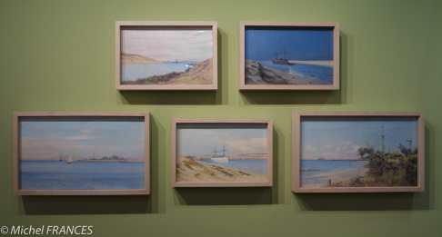 Musée du quai Branly - Peintures des lointains - Eugène Bourgeois - vues du canal de Suez