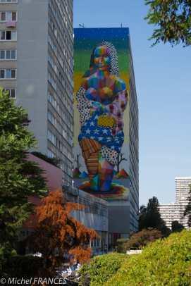 La Mona Lisa d'Okuda, avenue d'Ivry