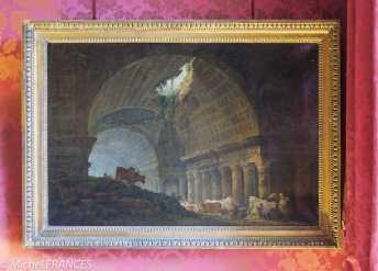 Musée Jacquemart - André - Hubert Robert - Ruines d'une longue galerie éclairée par un trou dans la voûte - 1785