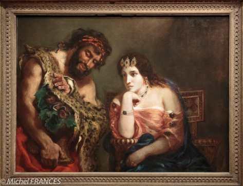 exposition Eugène Delacroix - Cléopâtre et le paysan (qui lui montre le serpent) - 1838, salon de 1839