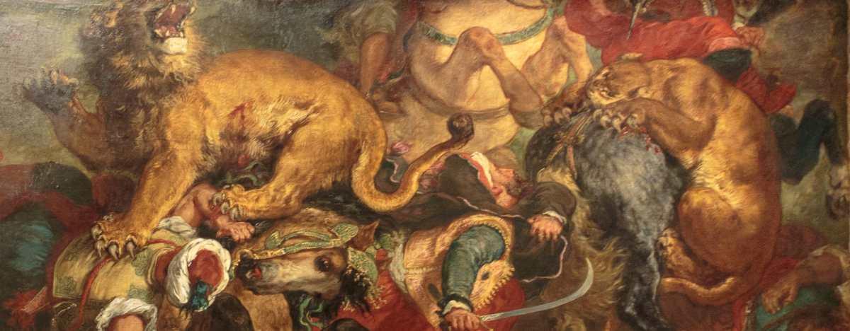 Delacroix et Silvestre au Louvre