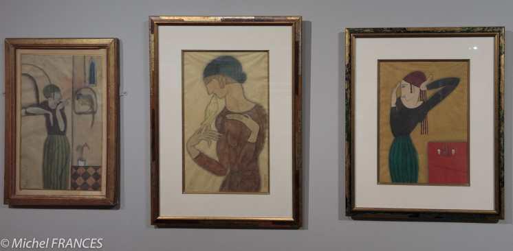 Musée Maillol - Exposition Foujita - fernande et son perroquet - Le baiser de l'oiseau - Le saké - 1917