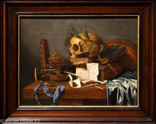 Toronto - AGO arts gallery of Ontario - Hendrick Andriessen - Nature morte (vanité)