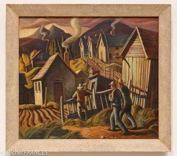 musée des beaux-arts d'Ottawa - H.G. Glyde - Camp de mineurs, Canmore, Alberta - 1950