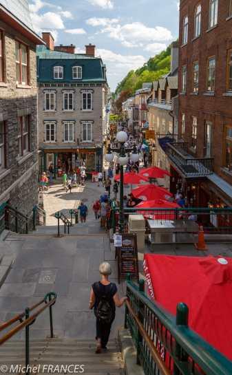 L'escalier Casse-cou et la rue du Petit-Champlain
