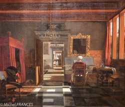 musée des beaux-arts de Montréal - Emmanuel de Witte - Intérieur avec une femme jouant du clavecin