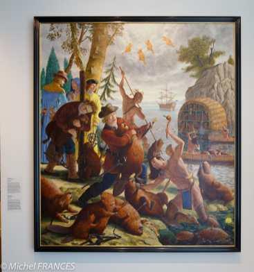 musée des beaux-arts de Montréal - Kent Monkman - Les castors du roi - 2011