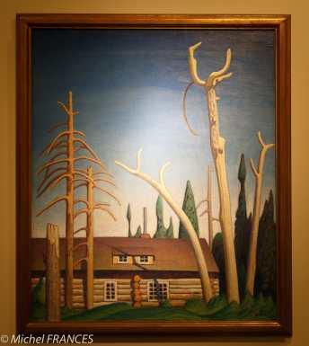 musée des beaux-arts de Montréal - Lawren S. Harris - Cabane en rondins - vers 1925