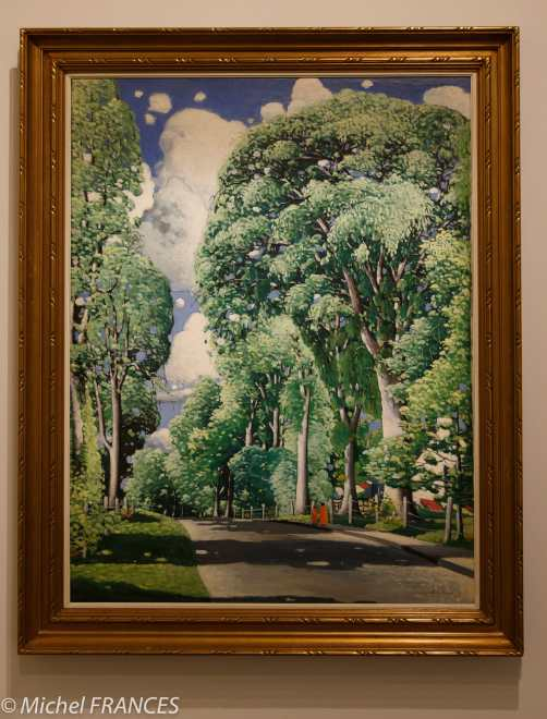 musée des beaux-arts de Montréal - Marc-Aurèle Fortin - Grands ormes à Sainte-Rose - vers 1926