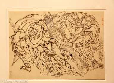 musée des beaux-arts de Montréal - Katsushika Hokusai - Trois guerriers et un bœuf - vers 1829