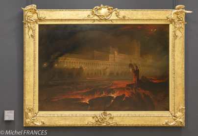 expo sur les cadres - John Martin - Le Pandemonium - 1644 - Cadre originaire de Grande-Bretagne, dessiné par John Martin