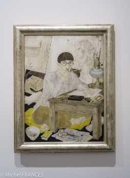 musée des beaux-arts de Lyon Foujita - Portrait de l'artiste (au chat !) - 1926