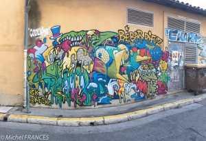 Street art dans le Panier
