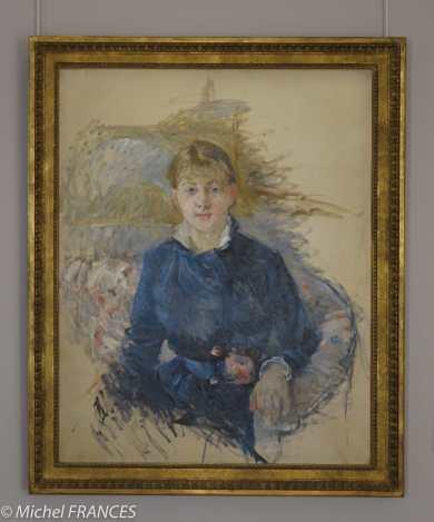 Marmottan Monet - Berthe Morisot - Portrait de Louise Riesener - 1881